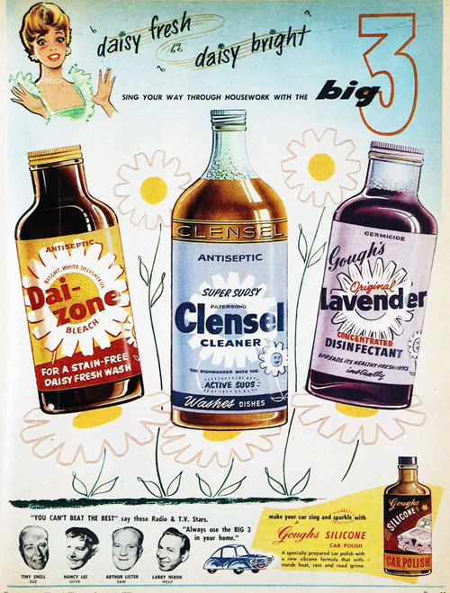 Vintage cleaning products (1960's)